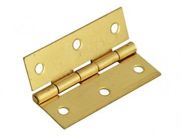 Butt Hinge Brass Finish 65mm (2.5in) Pack of 2